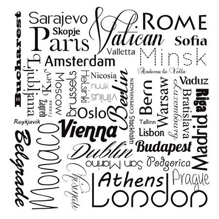 European capital cities 免版税图像 - 17614791
