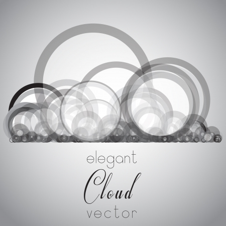 Elegant cloud vector Illustration