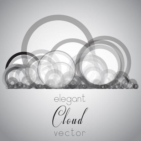 Elegant cloud vector Illustration