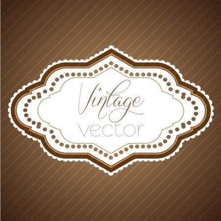 Vintage sticker Stock Vector - 17614414