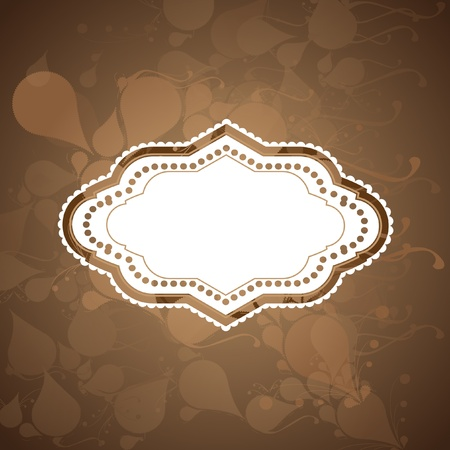 Vintage   sticker Stock Vector - 17617936