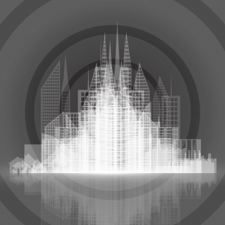 Abstract architecture background Stock Vector - 17617878