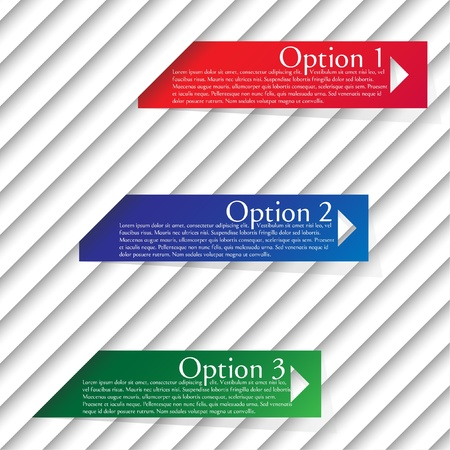 Numbered templates - vector design Stock Vector - 17617920