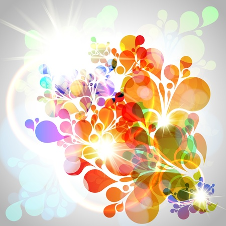 Vector colorful flower illustration Stock Vector - 17615592