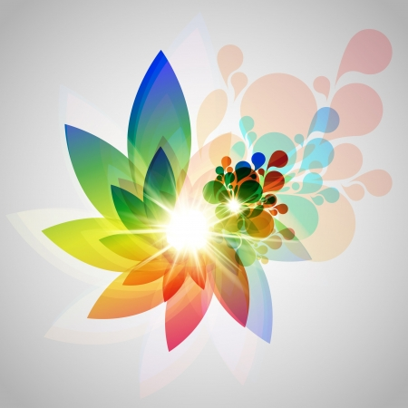 Vector colorful flower illustration