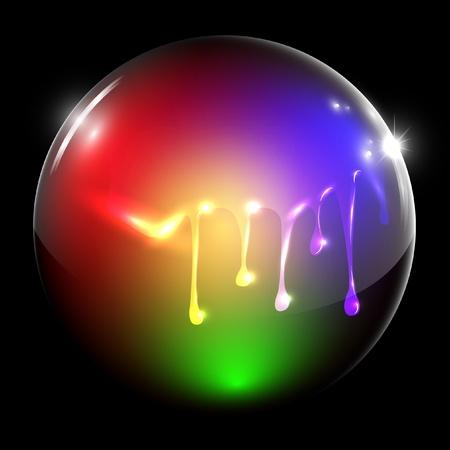 Flowing painted sphere Stock Vector - 17614638