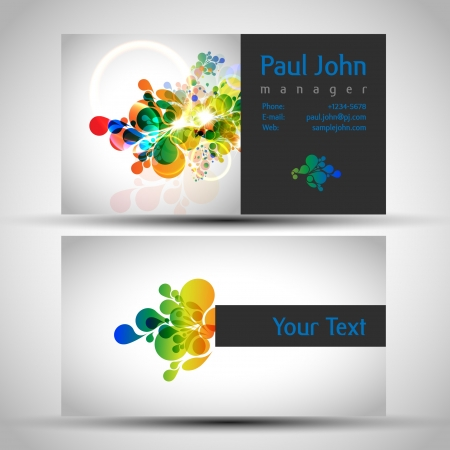 businesscard: Vector business-card front and back Illustration