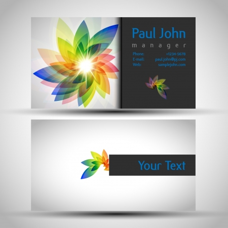 Vector business-card front and back Illustration