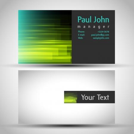 name card design: Vector business-card front and back Illustration