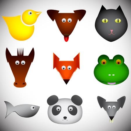 jowl: Vector animal set