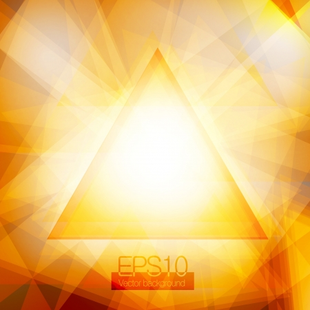 Gold abstract triangles Stock Vector - 17618162