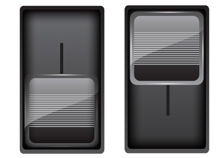 Black on-off switch Vector