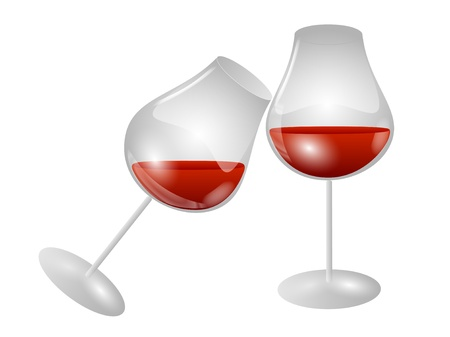 Two glasses of wine Stock Vector - 17618313