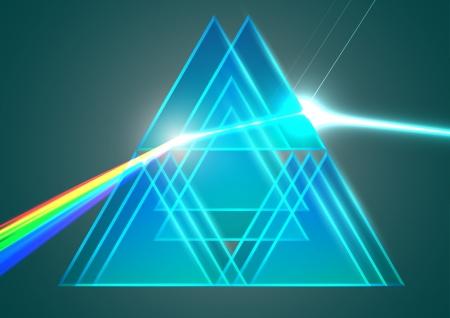 prisma: Prismas y refracci�n Vectores