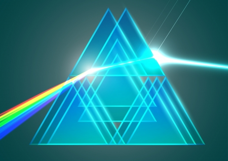 refraction: Prisms and refraction