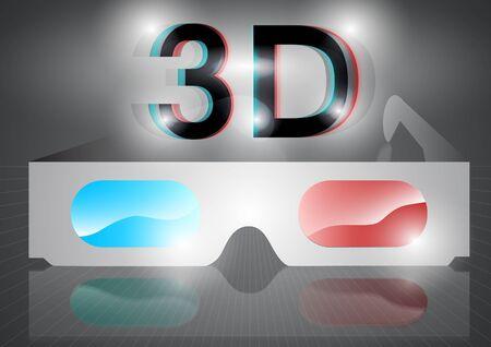 3 d glasses: 3D eyeglasses