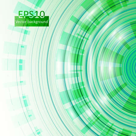 Green vector circles in eps10 Stock Vector - 17618004