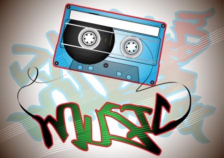 casette: Oldschool casette with graffit