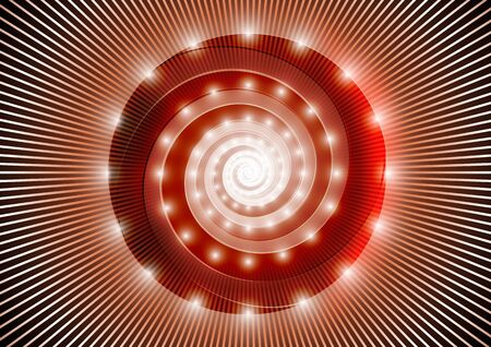 Abstract red spiral Stock Vector - 17618204