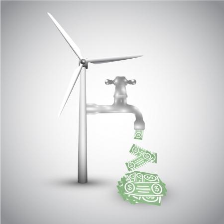 clean energy: Ecology vector Illustration