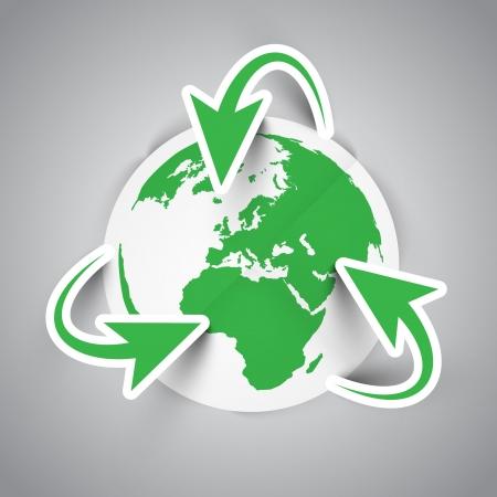 Vector eco stickers Illustration