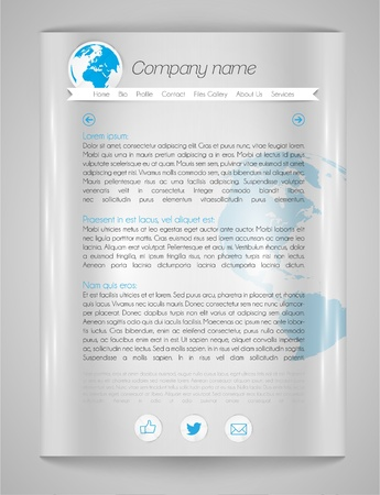 Vector web page template Vector
