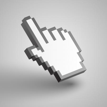3d mouse: Vector hand cursor