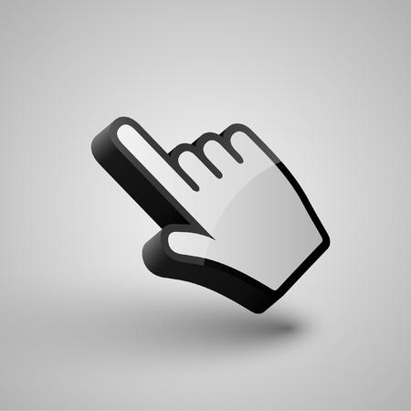 3d mouse: vector hand arrow cursor