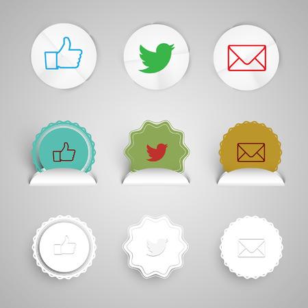 shortcut: Shortcut icons for webpages, vector eps 10