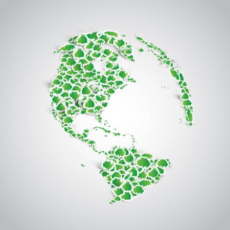 Earth made of a lots of sticker trees Vector