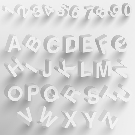 abstract 3D fonts