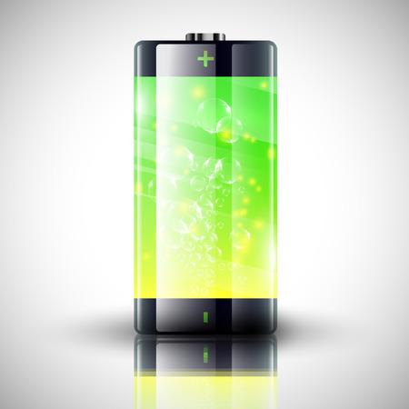 status: Battery charge status vector illustration Illustration