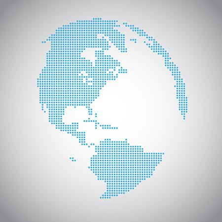 ピクセル ベクトル地球  イラスト・ベクター素材