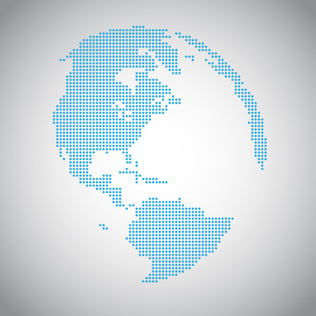 maps globes: Pixel vector Earth