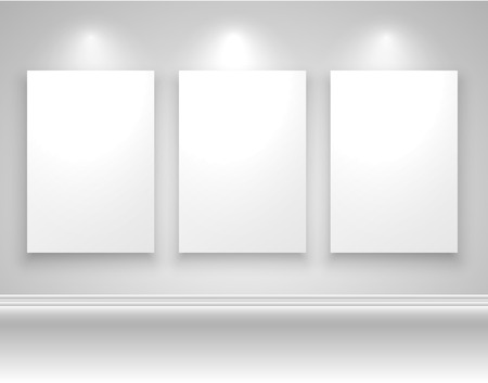 realictic: Frames on wall template design, vector