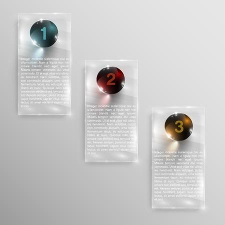website background: Vector glass design concept template
