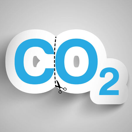 co2 neutral: Vector illustration about the air pollution