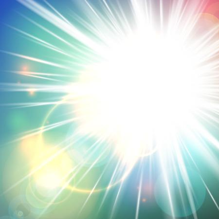 futuristic nature: Shiny, sunny abstract vector background Illustration