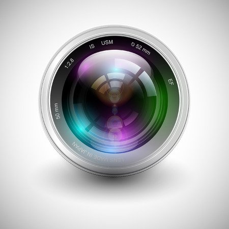 Vector illustration of a camera icon
