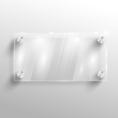 blank board: Advertising vector glass board. Illustration