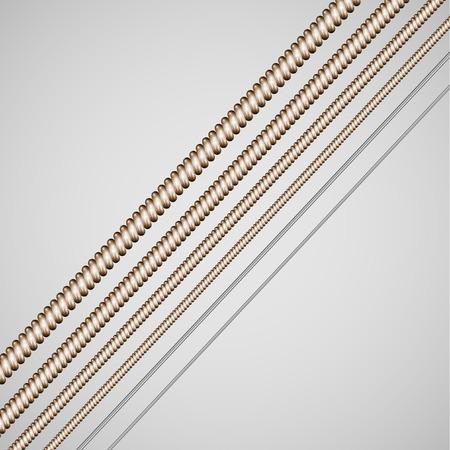 Vector guitar strings Illustration
