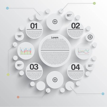 Circles infographic abstract background