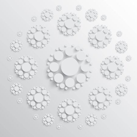 shadows: White disks with shadows