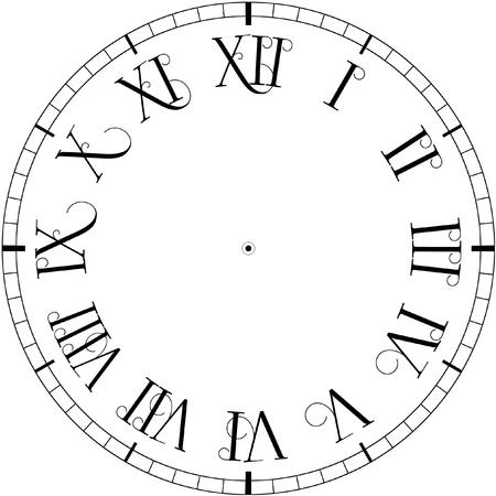 face to face: Vector vintage clock