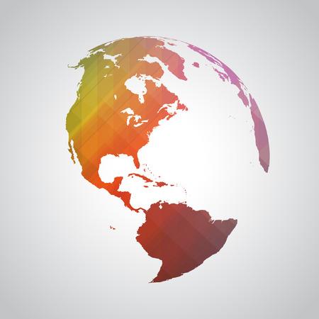 カラフルな抽象的な世界シンボル  イラスト・ベクター素材
