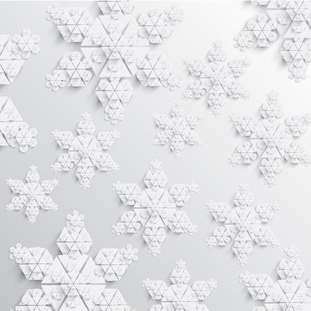 抽象的な紙雪の結晶イラスト  イラスト・ベクター素材