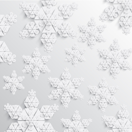 Abstract paper snowflake illustration