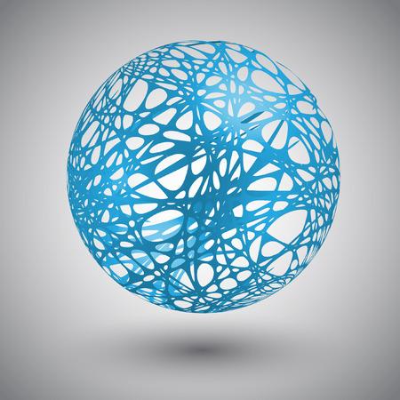 Globe with orbits illustration