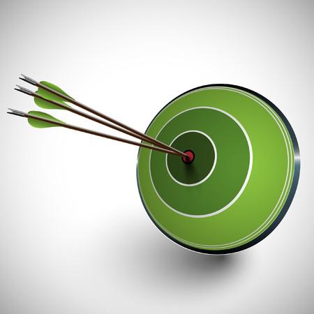 Arrow and a dartboard, vector Illustration