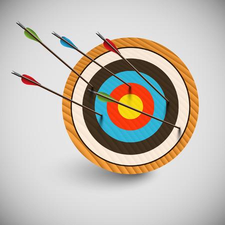 Arrow and a dartboard